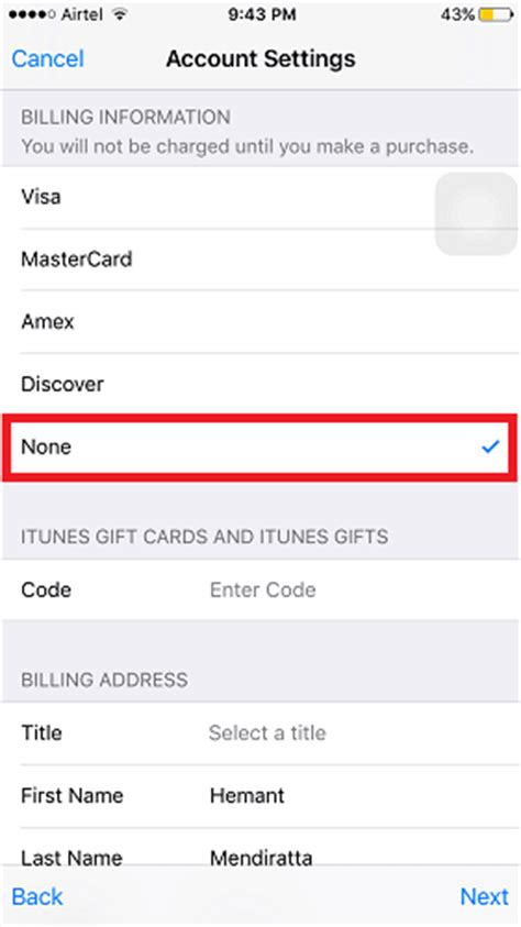 Sle Credit Card For Apple Id How To Create Us Apple Id From Any Region To Apps Only On Us Store