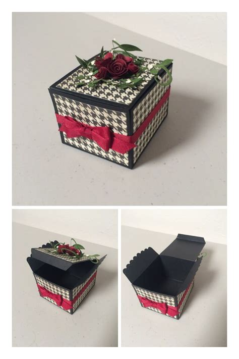 Handmade Paper Boxes Tutorial - handmade box using stin up sizzix scalloped envelope