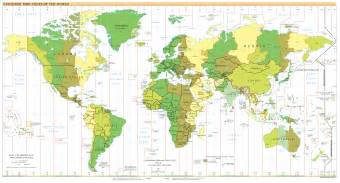 Time Zone Map Of The World by A History Of The International Date Line