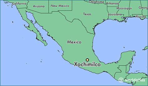 mexico city on map where is xochimilco mexico xochimilco mexico city map