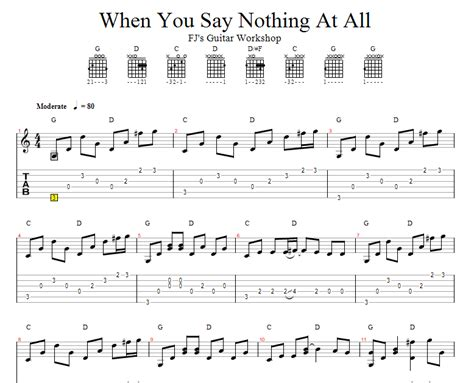 tutorial guitar when you say nothing at all fj s guitar workshop 吉他演奏 ronan keating s when you say