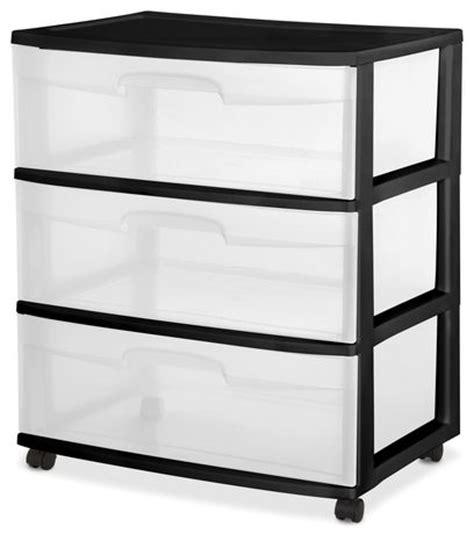 Sterilite Large 3 Drawer Cart by Sterilite Wide 3 Drawer Black Cart Walmart Canada