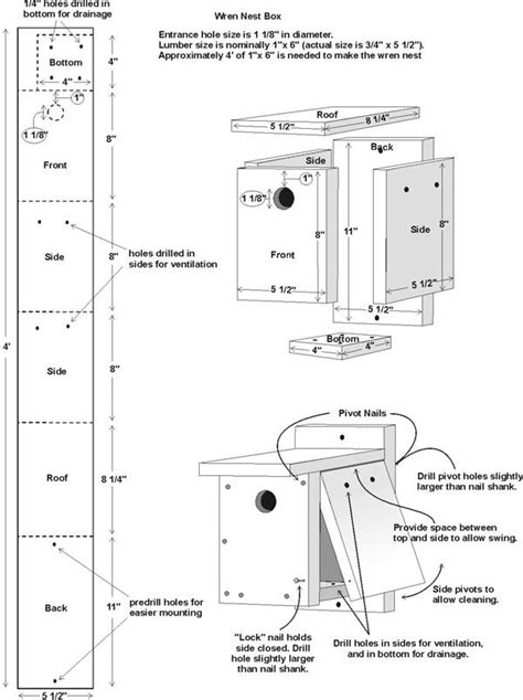 Bird Houses Plans by Free Wren House Plans Easy Diy Project