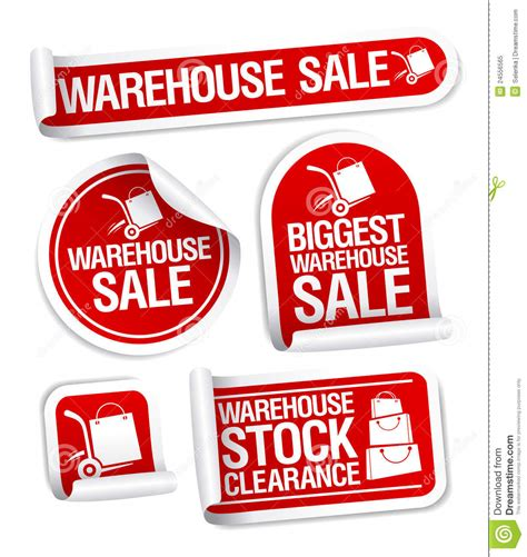 warehouse sale stickers royalty free stock photo image