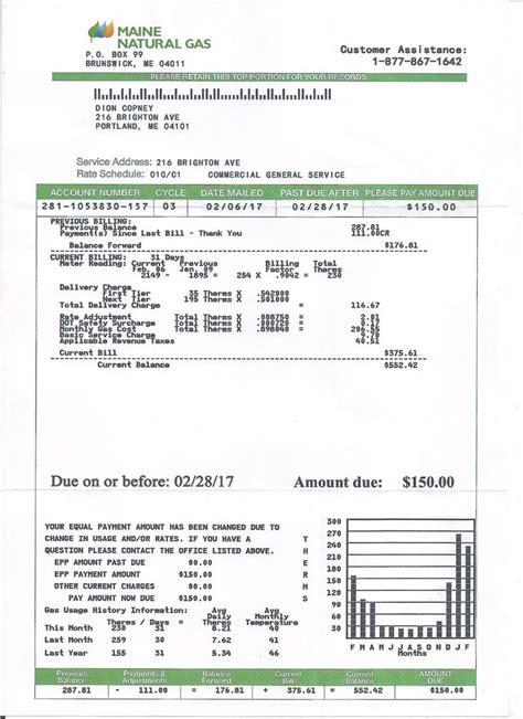 free utility bill template utility bill statement monthly custom proof of