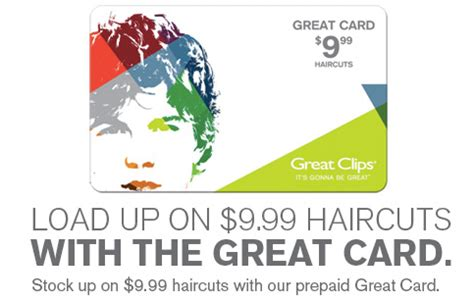Greatclips Gift Card - great clips 9 99 prepaid haircut cards southern savers