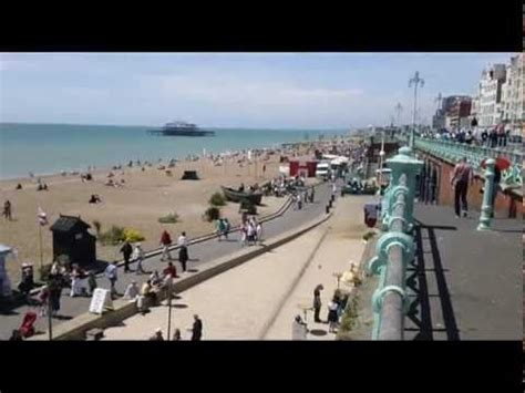 brighton beach uk   summer day youtube