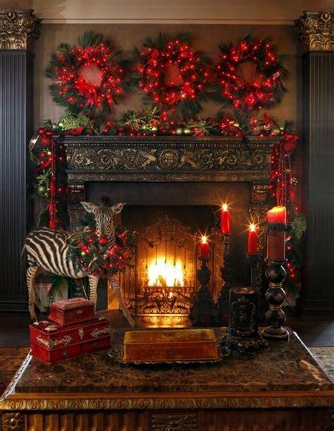 Fireplace Mantel Runners by 70 Cozy Christmas Decoration Ideas Bringing The Christmas