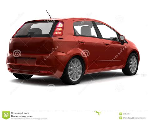 Auto Rau by Hatchback Car Back View Royalty Free Stock Photography