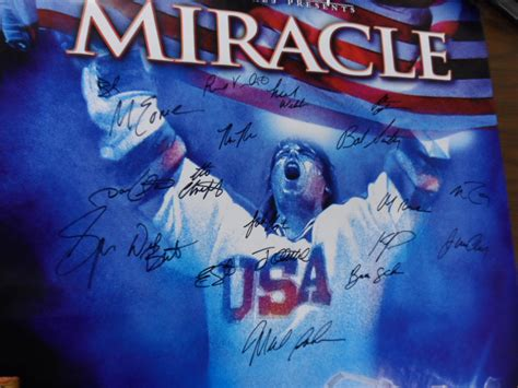 film disney hockey coach s corner quot miracle quot team signed guaranteed olympic