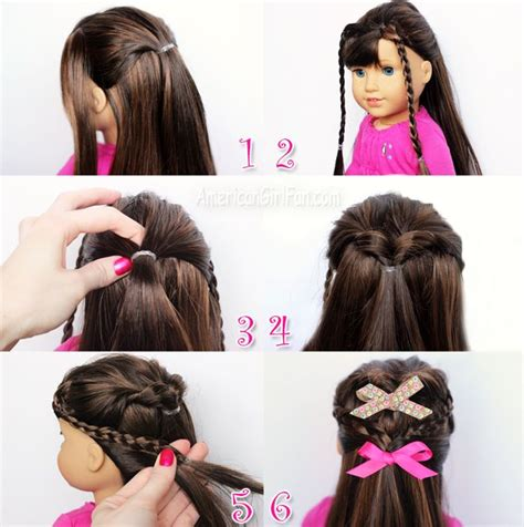hairstyles to do on dolls flip twist with mini braids american girl doll hairstyle