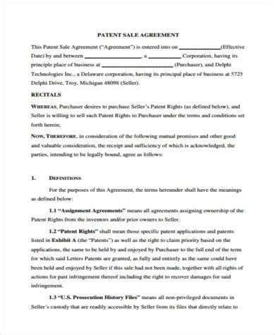 Sle Patent Agreement Forms 8 Free Documents In Word Pdf Patent License Agreement Template