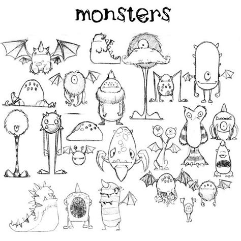 how to draw doodle monsters 25 beautiful drawing ideas on