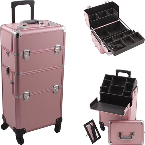 Makeup Drawers On Wheels 2 In 1 Rolling Makeup Aluminum Hair Stylist