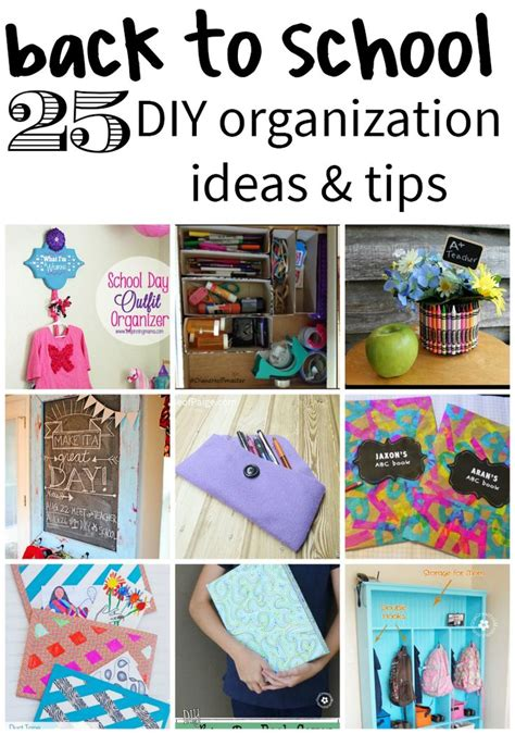 organization tips for school 43 best images about back to school diy on pinterest
