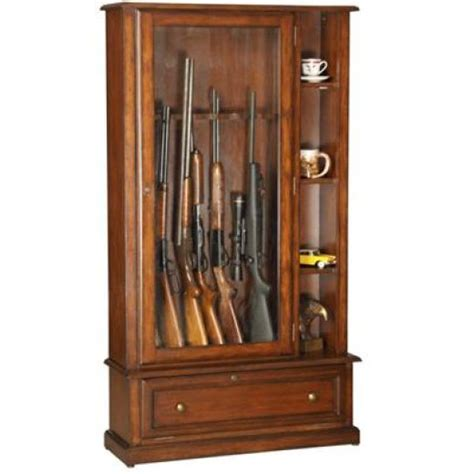 wooden gun cabinet for your home