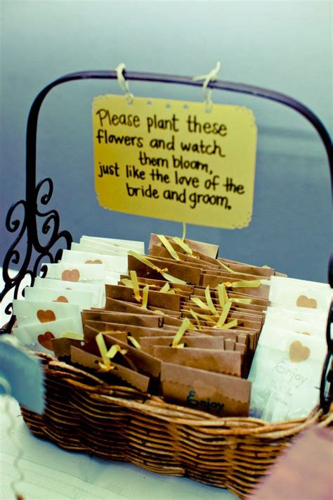 seed packet wedding favors