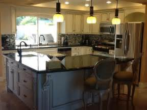 L Shaped Kitchens With Islands L Shaped Kitchen Island House Kitchen Pinterest