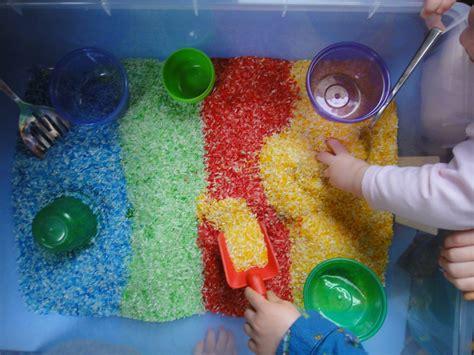 rice table for rice table rice sandbox sensory tub rice activities