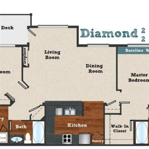diamond at prospect floor plans 2 bed 1 bath apartment in beaverton or baseline woods apts