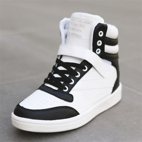 Boots Wedges Korea Style White high top wedge sneakers wedges college shoes and high tops
