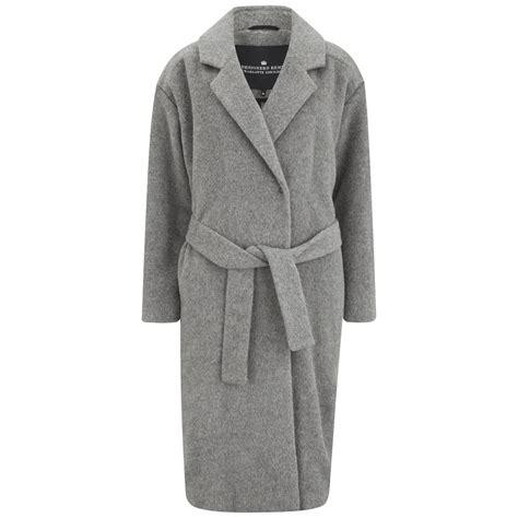 Cardy Denim Outwear 0125 Qkv designers remix s panda wool coat cardy grey melange womens clothing thehut