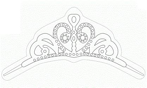 sofia the crown template princesa sof 237 a molde de su tiara ideas y material