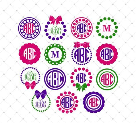 monogram ideas monogram frame circle monogram and cutting files on pinterest