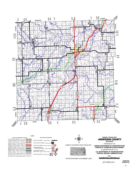 County Kansas Property Records Kdot County Maps Quarter Inch Scale