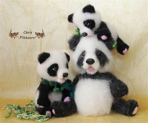 Cp Panda 119 crochet pattern panda amigurumi pdf file by