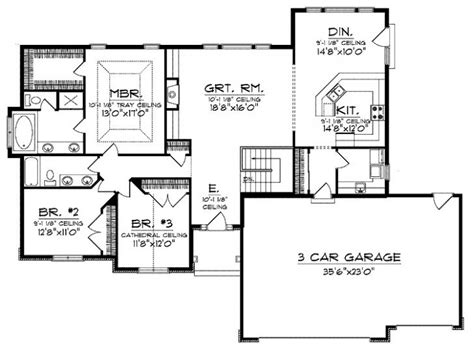 open floor ranch house plans inspirational open floor plan ranch house designs new