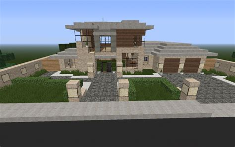 minecraft pe house designs modern house minecraft pe house plan 2017