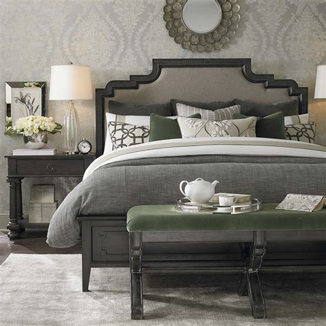 bed with high headboard in upholstery emporium