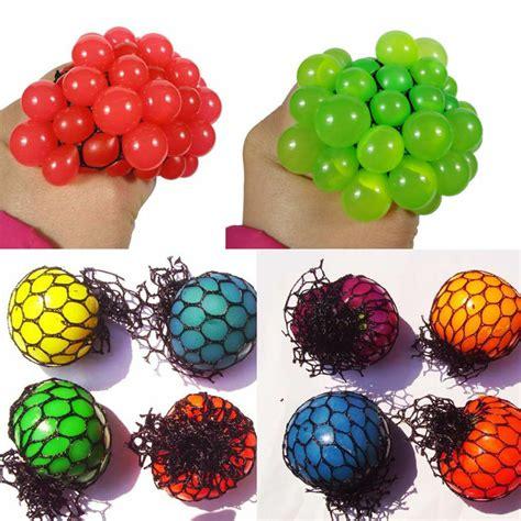 pc  squishy mesh abreact ball squeeze anti stress