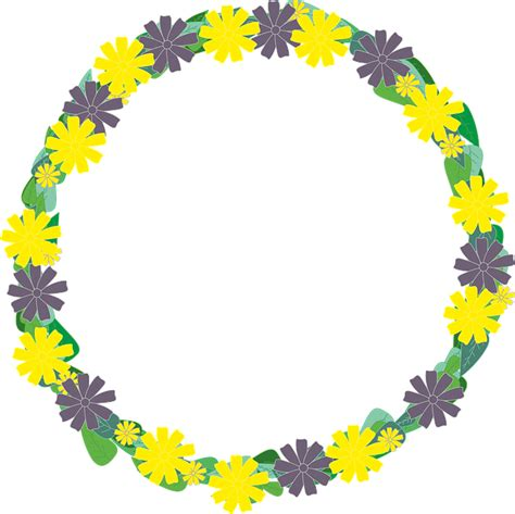 flowers wreath floral free image on pixabay free illustration flowers wreath violet foliage free