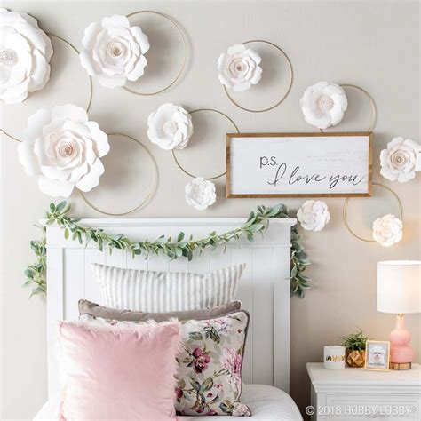 Paper Flowers Floral Garland Decor Home Wall Decor Unique Wall Decor For And Summer Styling