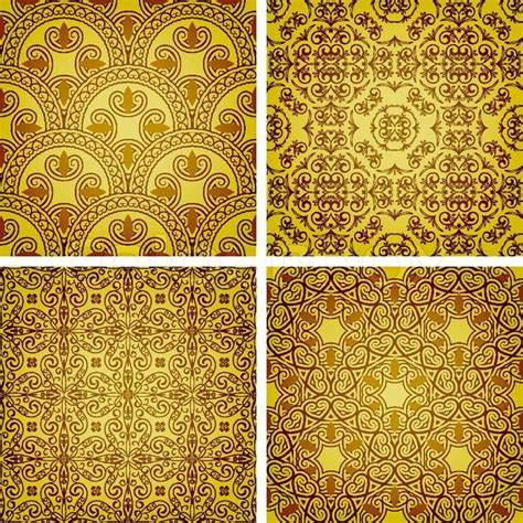 My Home Decor Style Vector Seamless Golden Patterns Oriental Style Can Be