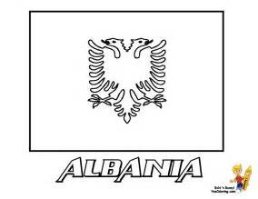 Albanian Flag Outline by Albanian Flag Coloring Page Sketch Coloring Page