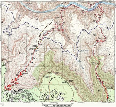 grand map trails grand hiking trail map grand az mappery