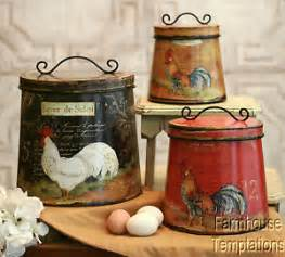 country canisters for kitchen french kitchen canisters ebay