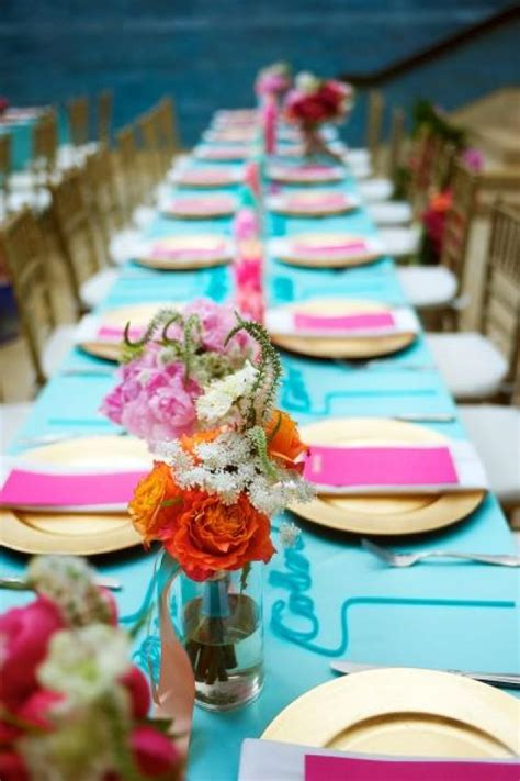 quinceanera colors and color scheme ideas indian wedding fuchsia gold teal 2048537 weddbook