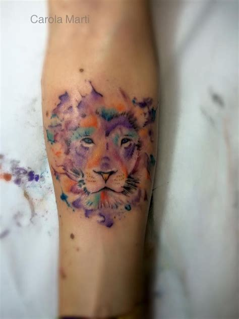 watercolor tattoo lion 25 best ideas about watercolor on