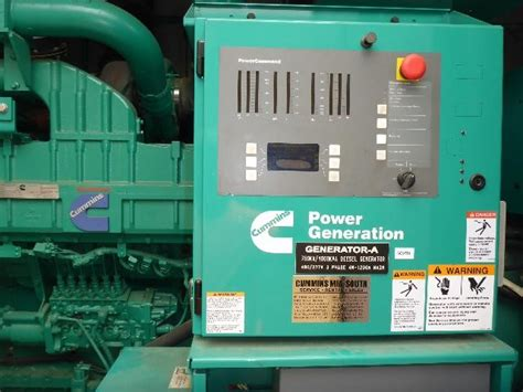 cummins dqfaa kw qst  diesel generator set sold brackeen power solutions