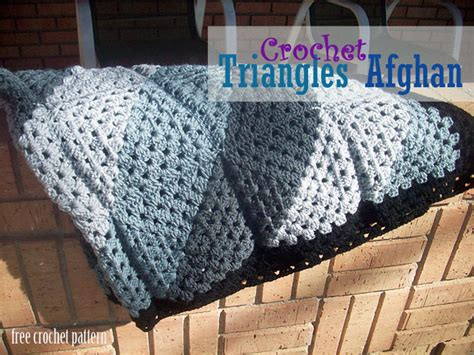 pattern for triangle afghan free crochet pattern triangles afghan
