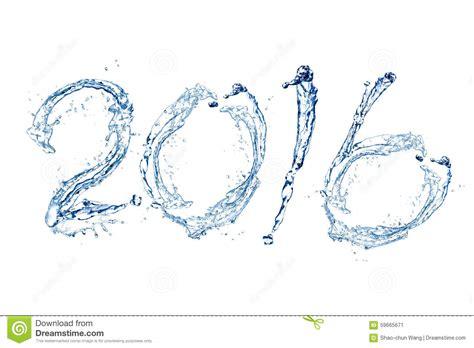 new year water happy new year 2016 stock photo image 59665671