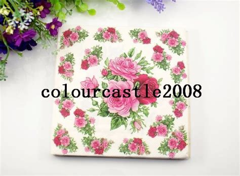 Tissue Napkin Eropa Decoupage 3 food grade flower paper napkin festive tissue napkins decoupage wedding decoration