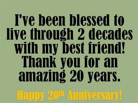 20th Anniversary Wishes: Quotes and Messages to Write in a