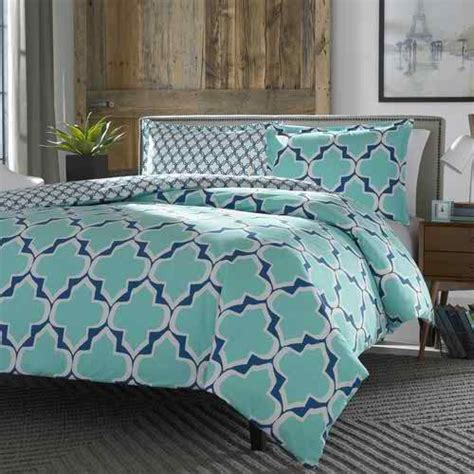 full queen 100 cotton reversible comforter set in teal