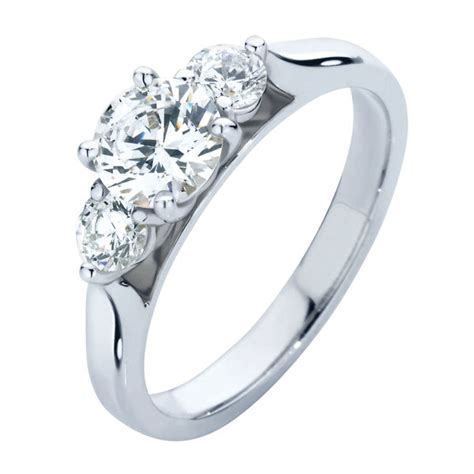 swing rings round three stone engagement ring white gold swing trio