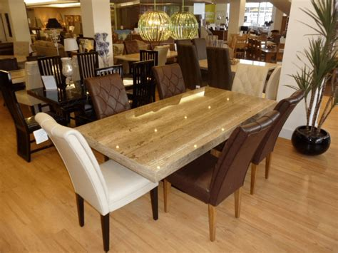 harmonize kind of granite top dining table in modern